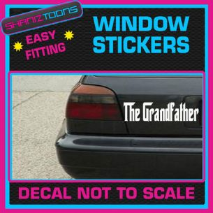 THE GRANDFATHER GRANDAD FUNNY CAR WINDOW VINYL STICKER DECAL GRAPHICS